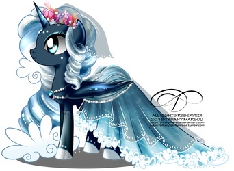 Commish - Gala Gown for Princess Maristella by tiffanymarsou