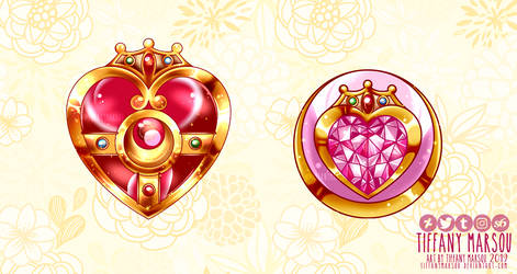 Usagi n Chibiusa - brooches