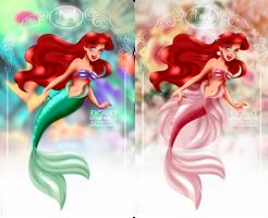 Ariel - green n pink