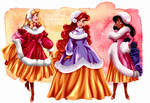 Winter Princesses by tiffanymarsou