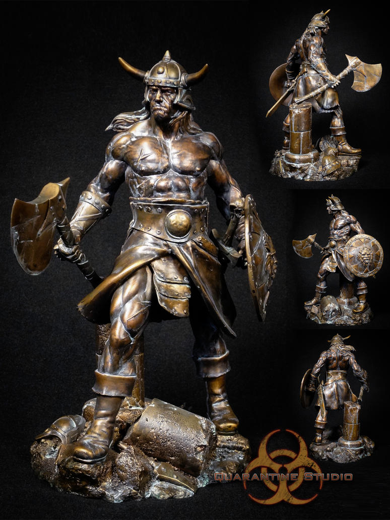 Conan the Brutal Faux Bronze V2 by QuarantineStudio