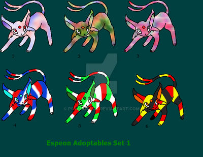 Espeon Adoptables Set 1