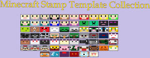 Minecraft Stamp Template Collection