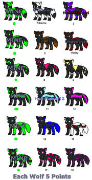 NOW FREE Little Wolf Adopts 9 and 17 are OPEN