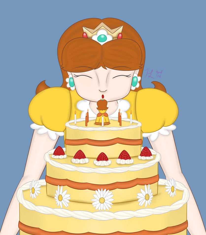 Daisys 25th Birthday Cake By Dragonkazooie89 On Deviantart