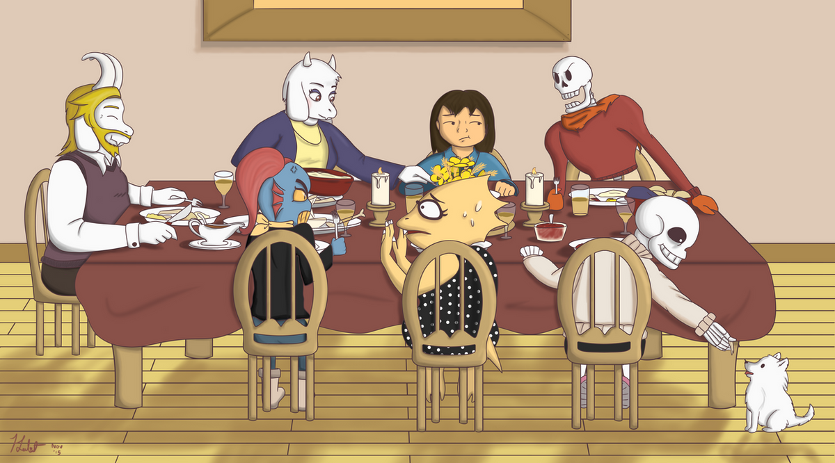 First Human Thanksgiving Together by DragonKazooie89