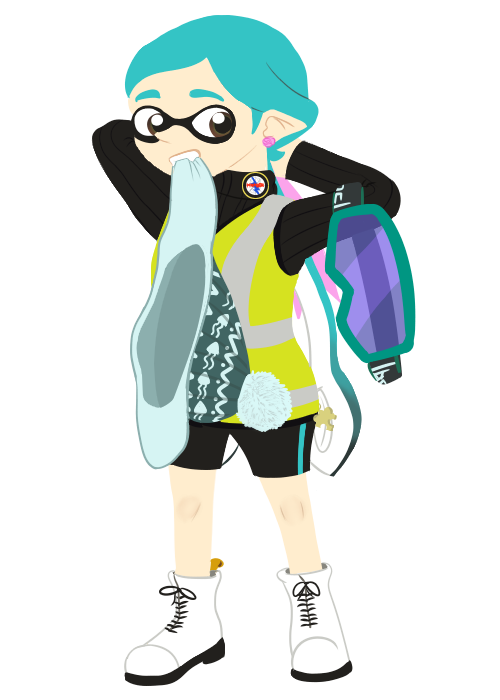 Splatoon Inkling Collab - Prepping for Turf War by DragonKazooie89