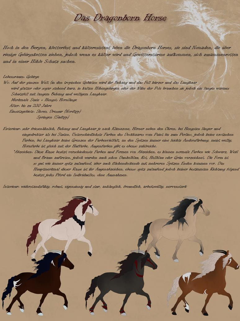 Dragonborn Horse_German by CalyArt