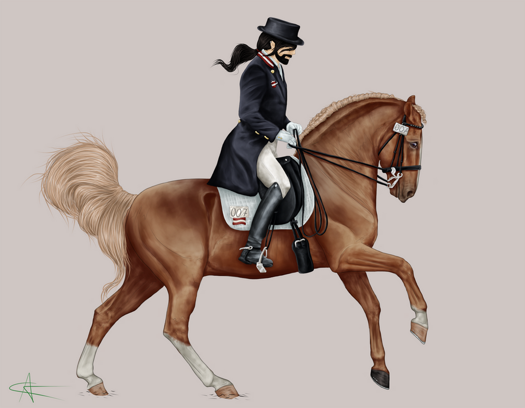 Let the sky fall WIP _Horse+Rider by CalyArt