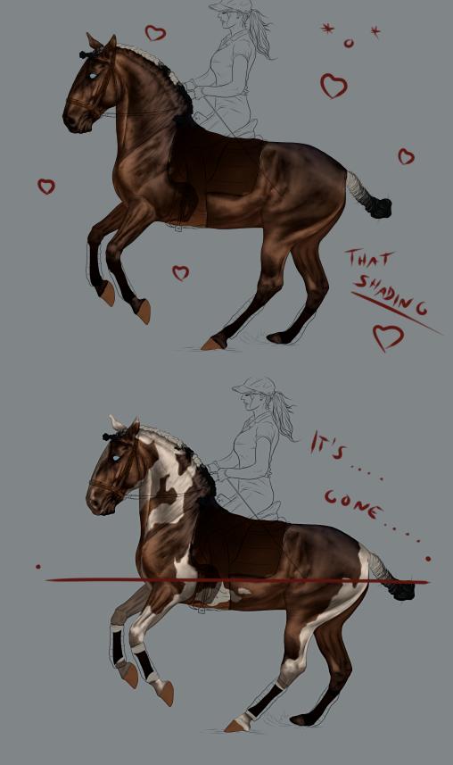 Why I hate big white markings by CalyArt