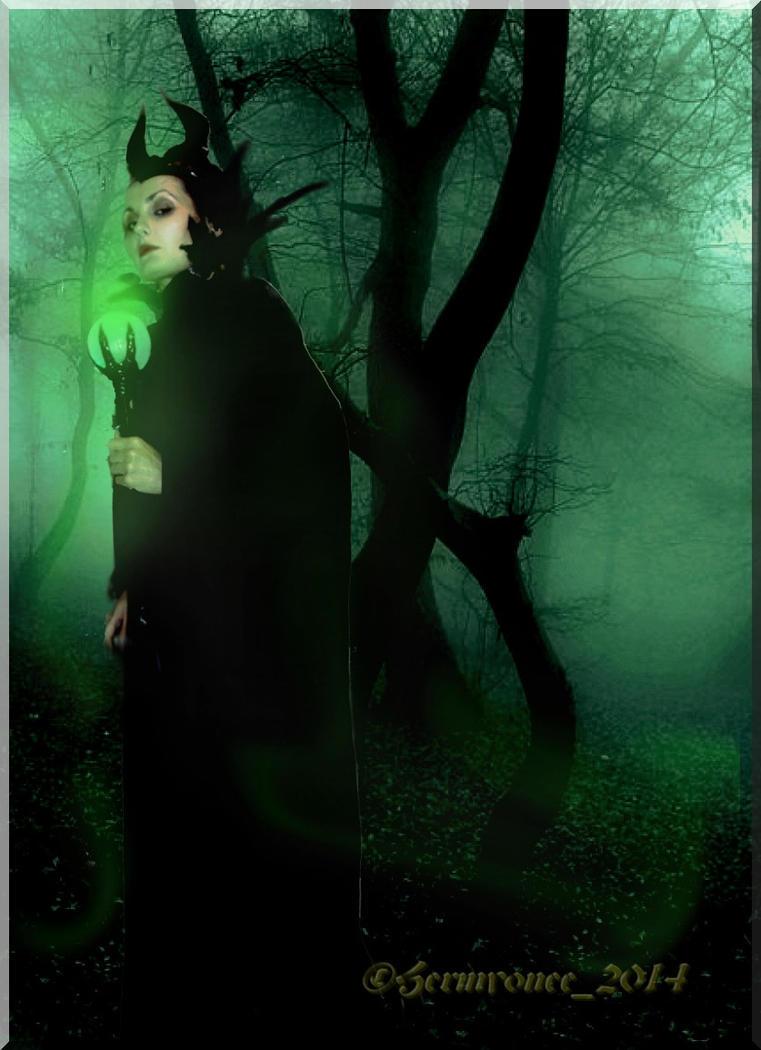 the dark forest Maleficent by Hermyonee