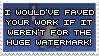 No Faves for Huge Watermarks by R-Kasahara