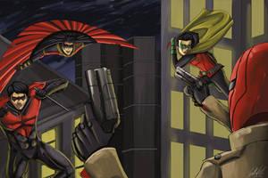 Robins Assemble by jaerezzed