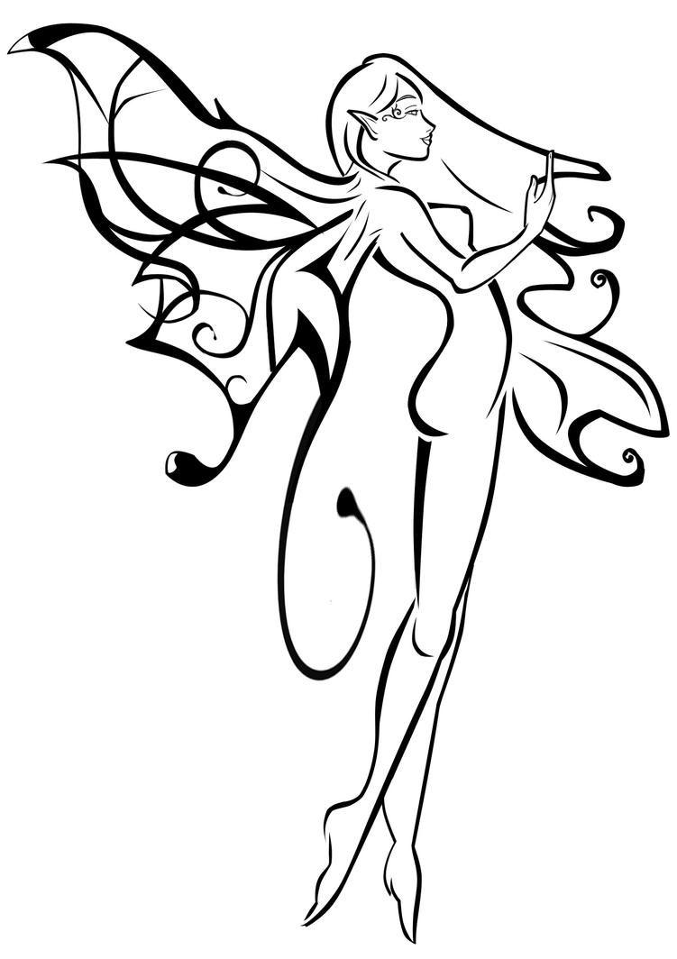 fairy outline tattoo u2013 images free download