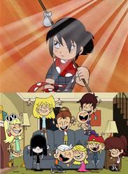 Loud kids celebrating sasuke