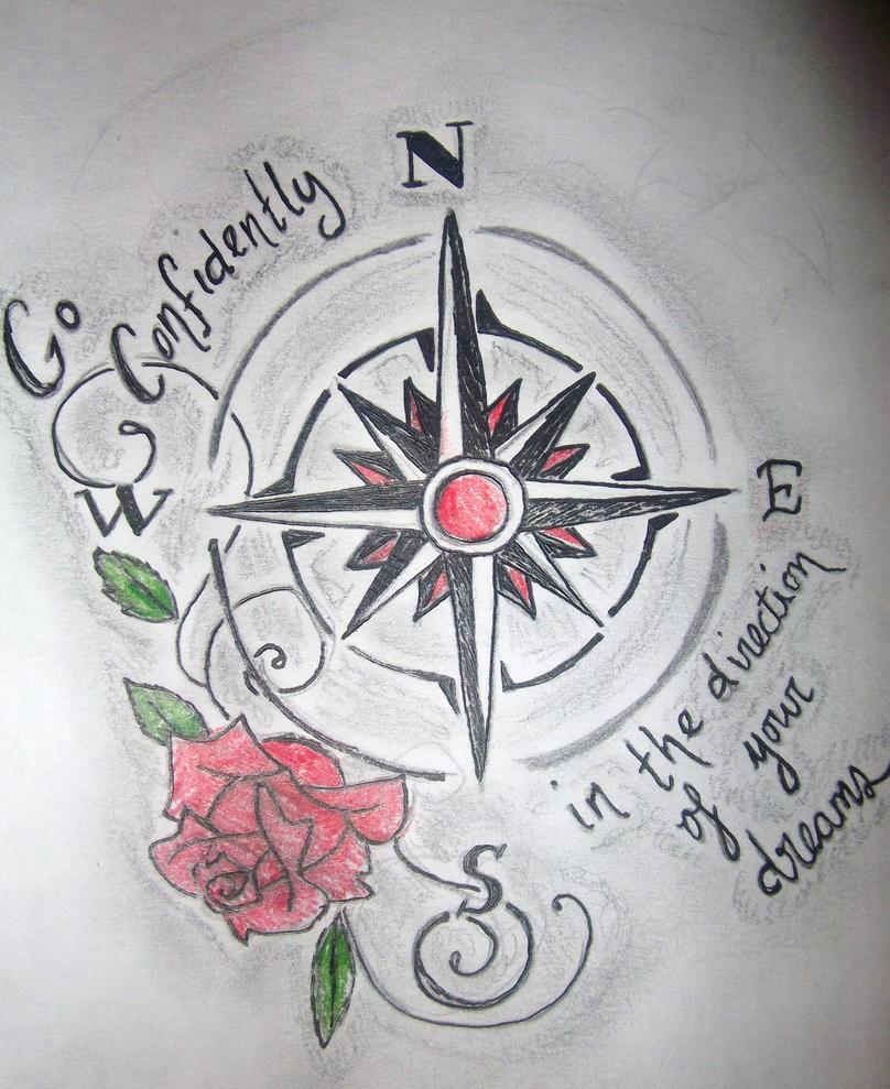 Compass Rose Tattoo Design Girl Quotes