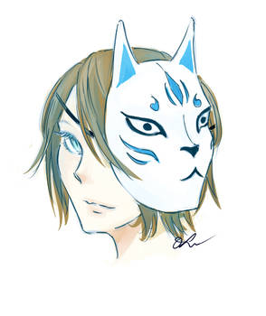 Fox Mask (Coloring Practice)