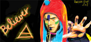 Jared Leto - Graffiti by racoongod