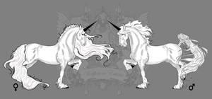 Royal White-Unicorn Romeo and Juliet