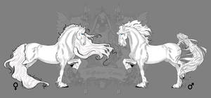 Royal White-Equine Samson and Delilah