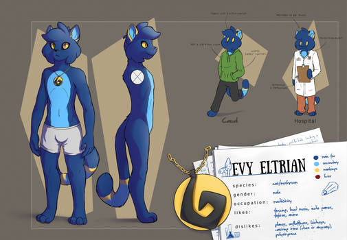 Reference sheet: Evy Eltrian