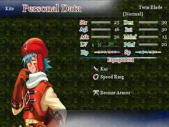 Rakenzarn Tales: Screen - Kite Status by DarkKyu09