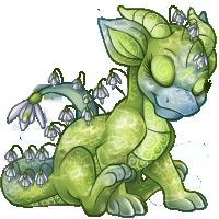 Green Orcherd Dragon hatchling