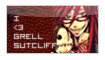 Grell Sutcliff Stamp by GothicSuppi