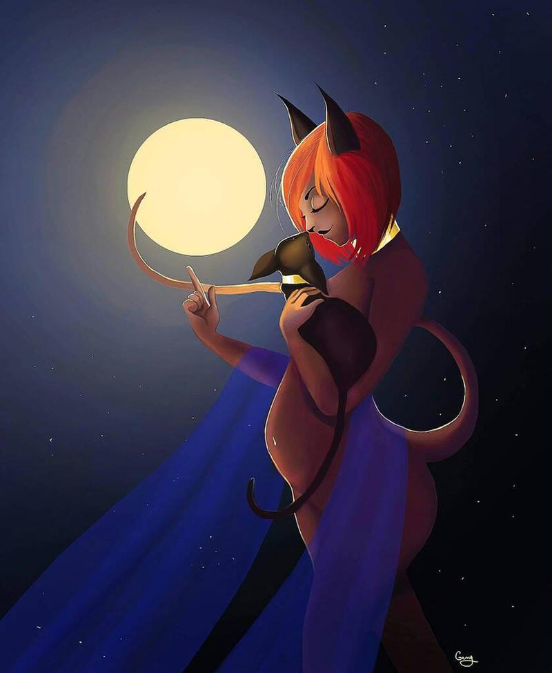 Bastet the goddess cat by Chtitexxpeste