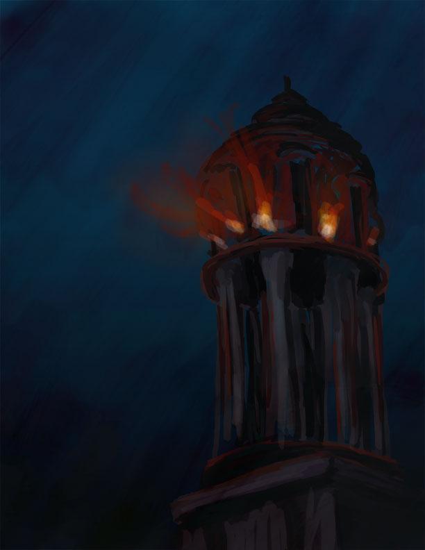 Pharos of Alexandria by karacature