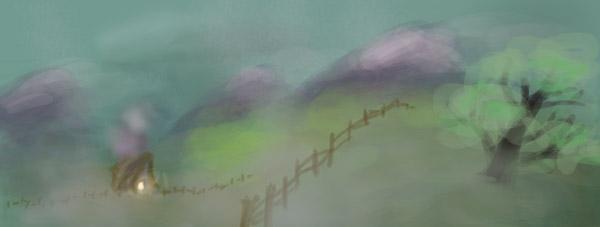 Foggy Field Speedpaint by karacature