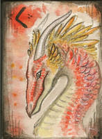 atc or aceo firedragon kenaz by Opaca