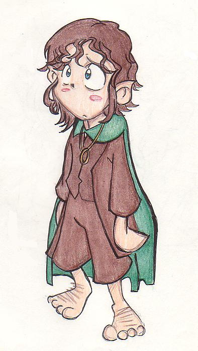 Weepy Frodo by crunchychibi