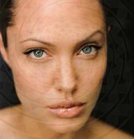 Angelina Jolie spiral eyes by theeyeshavehills