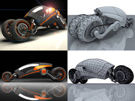 vehicle concept by 3dmodeling