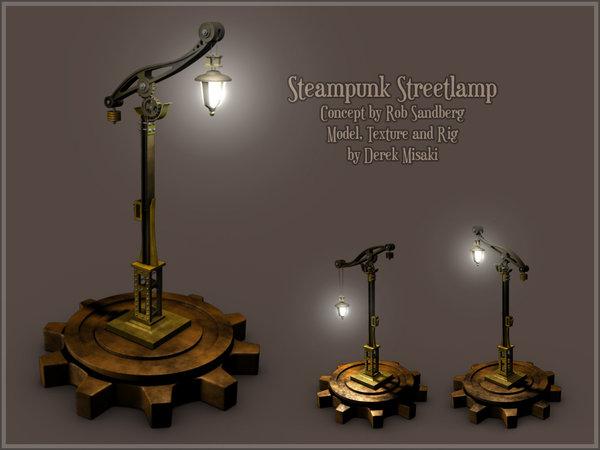 steampunk streetlamp model by 3dmodeling on deviantart