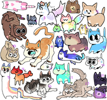 Thats a lot of cats wtf | 4/24 OPEN by Starry--Adopts