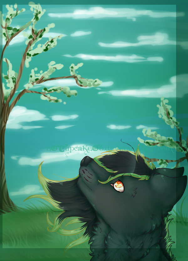 .:Green Sky:. by oOCupcakeOo