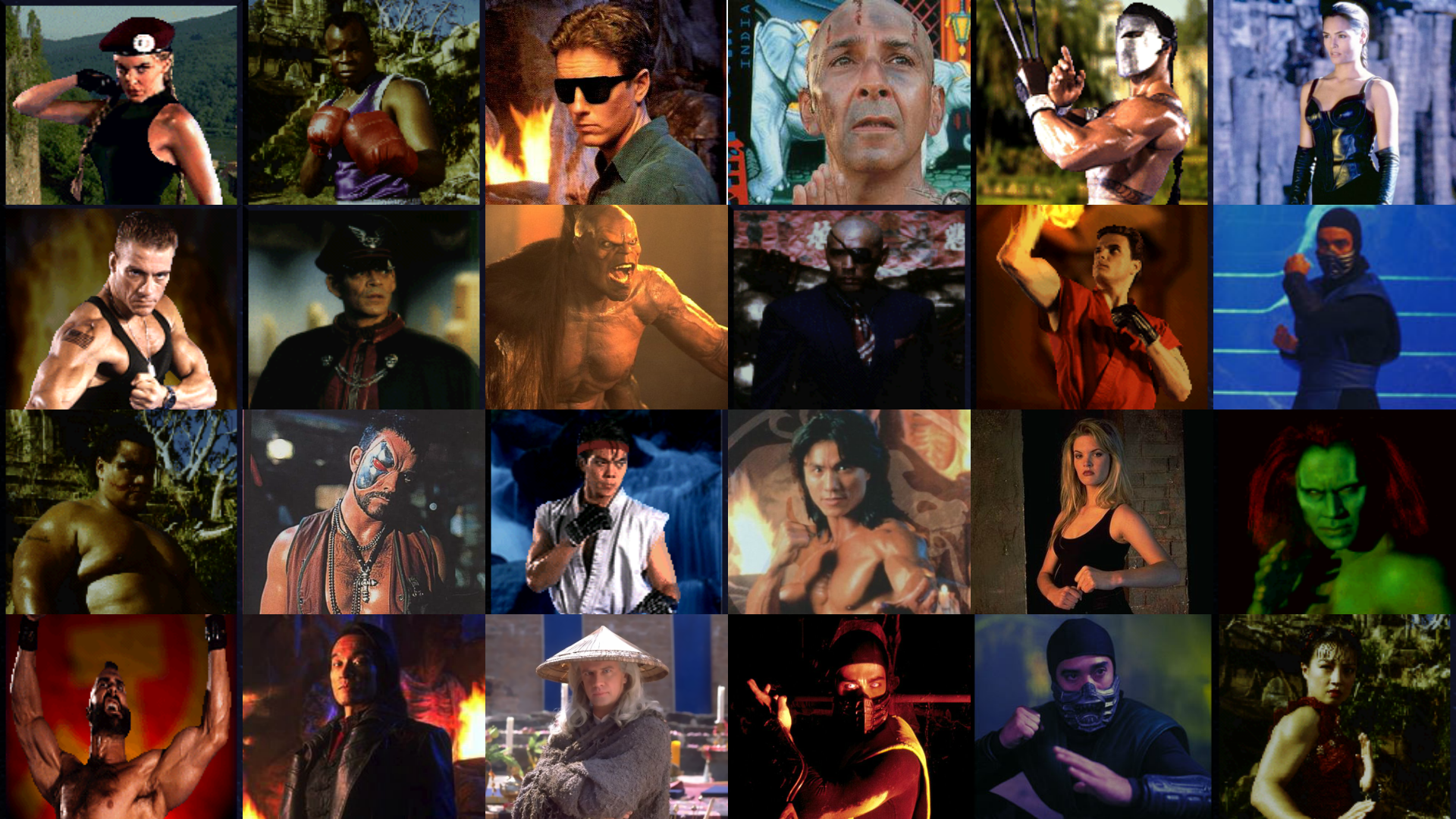 Mortal Kombat And Street Fighter Movie Characters By
