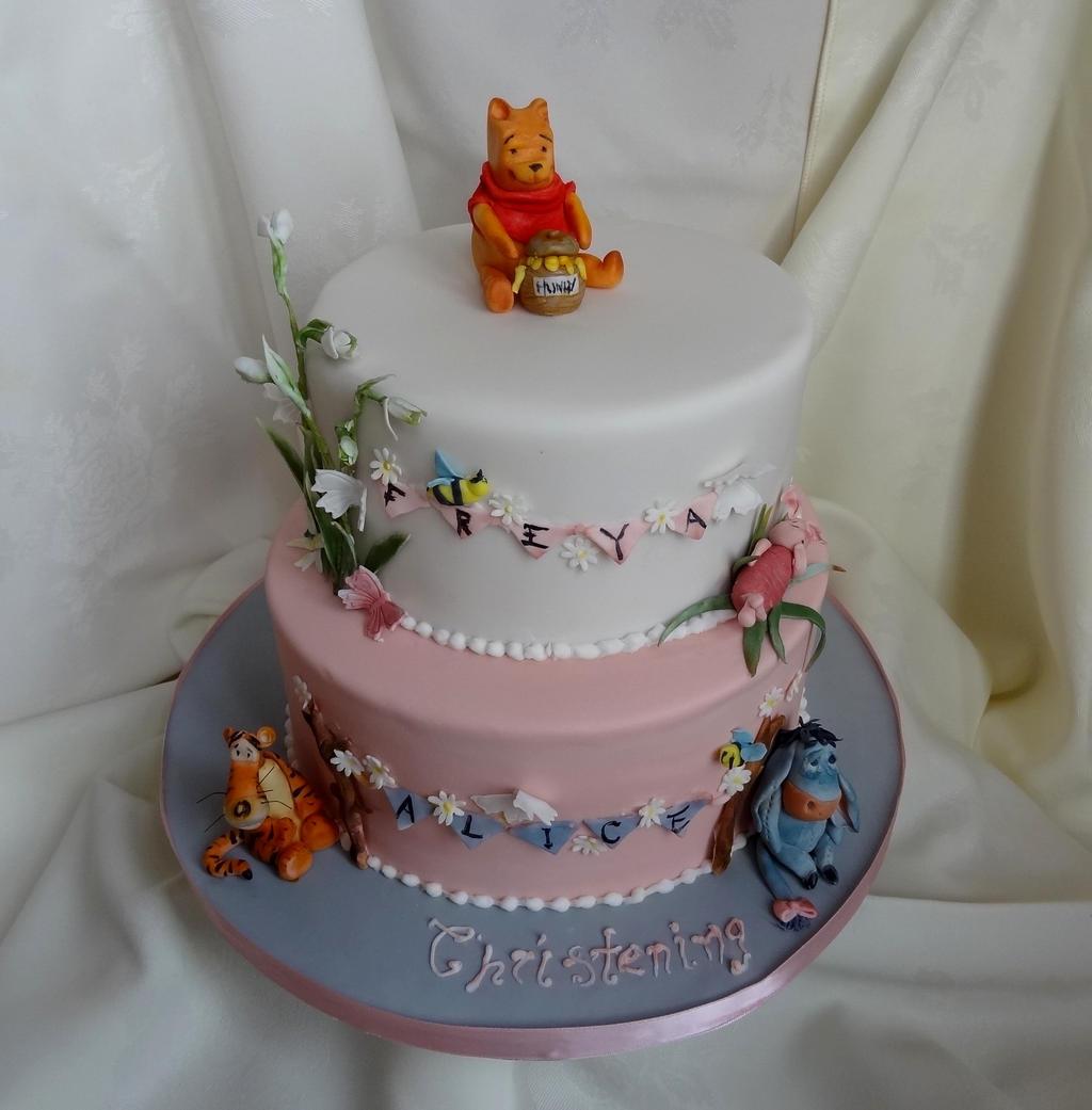 Winnie the Pooh Christening Cake by FifiCake on DeviantArt