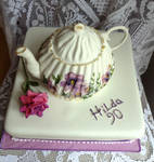 Teapot Cake for a 90th Birthday