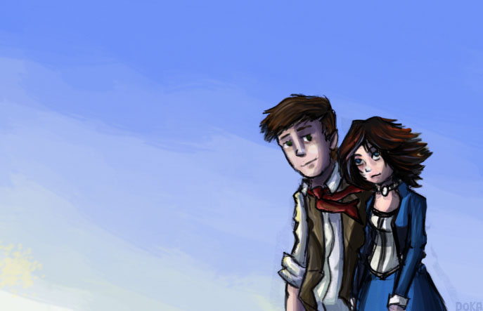 Bioshock Infinite Booker And Elizabeth Fan Art 84114 Loadtve