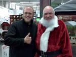 Funny, Man with Santa