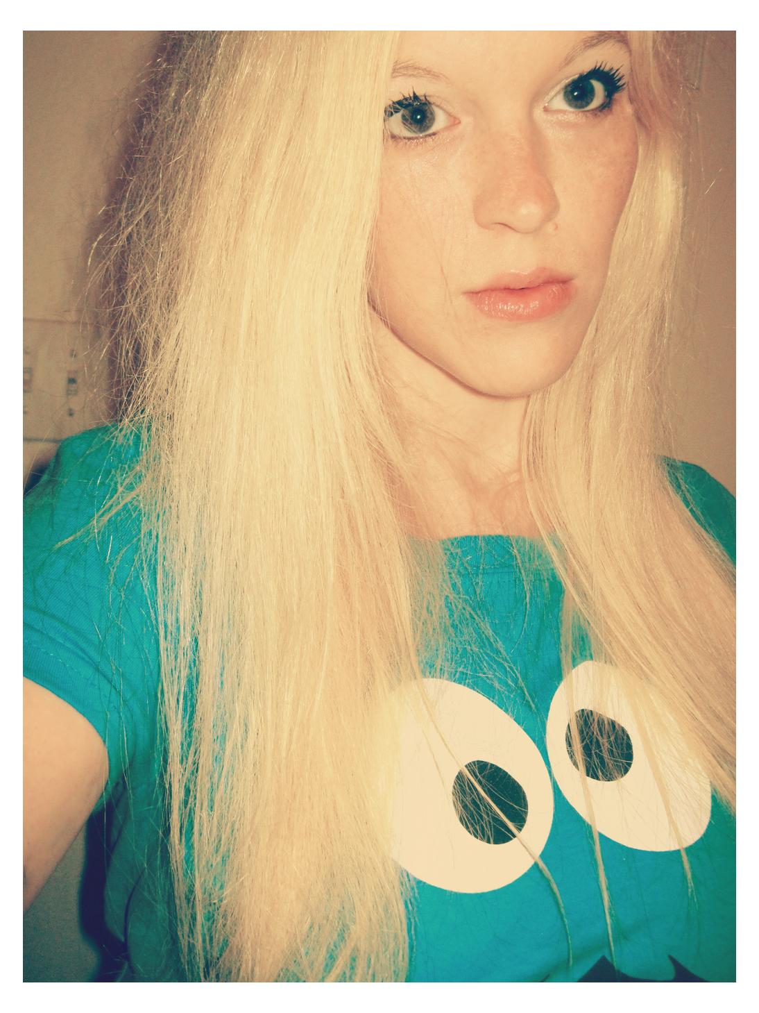 Blonde Woman Cookie Monster by ahtibat-stock