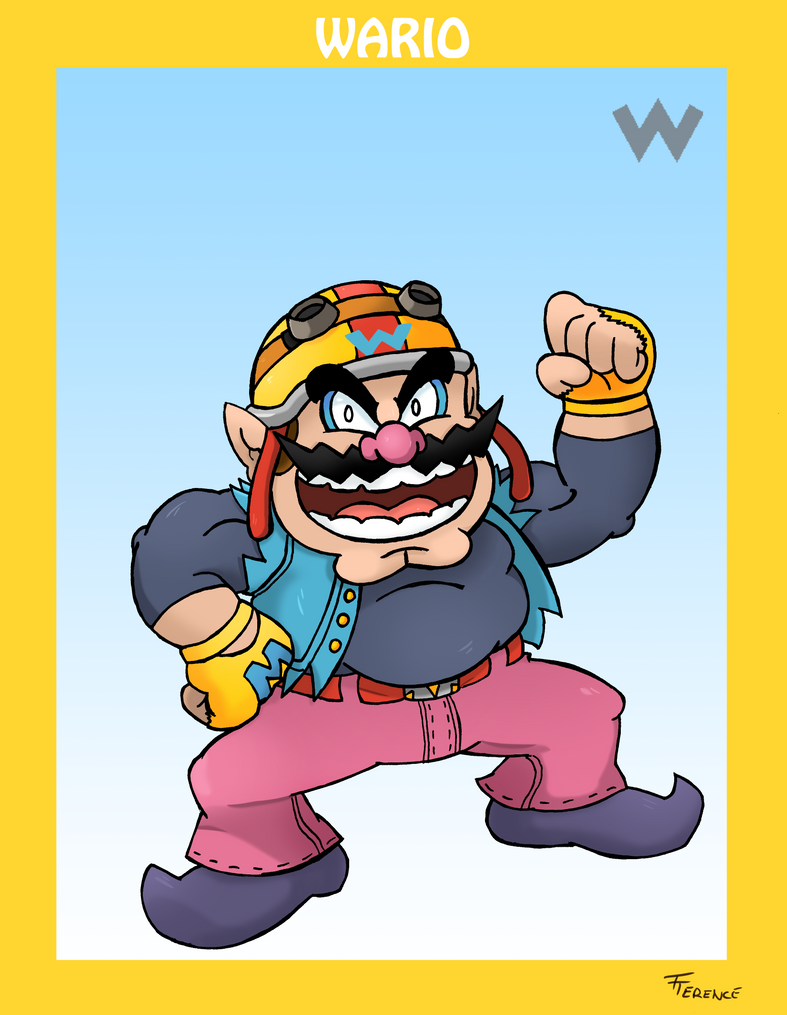 Smash Bros. Wario by SonicKnight007
