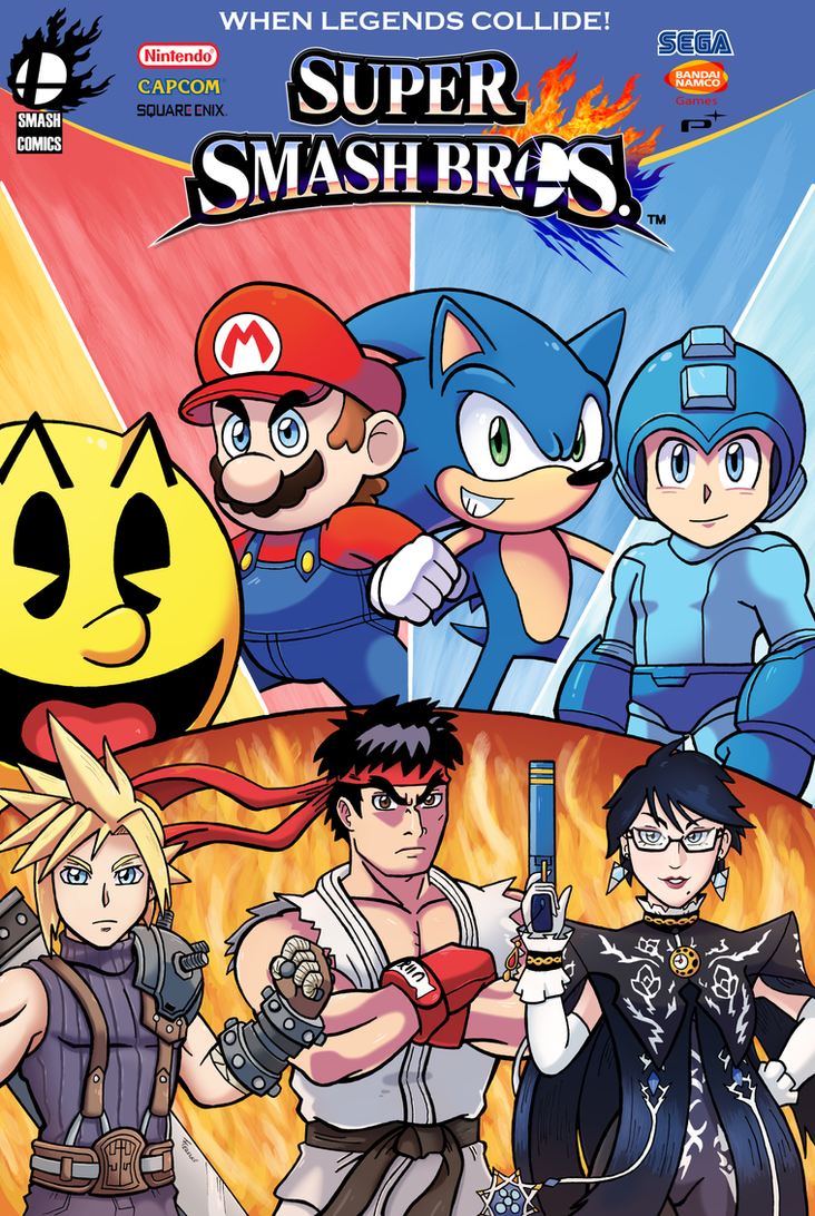 Super Smash Bros Comic Cover by SonicKnight007