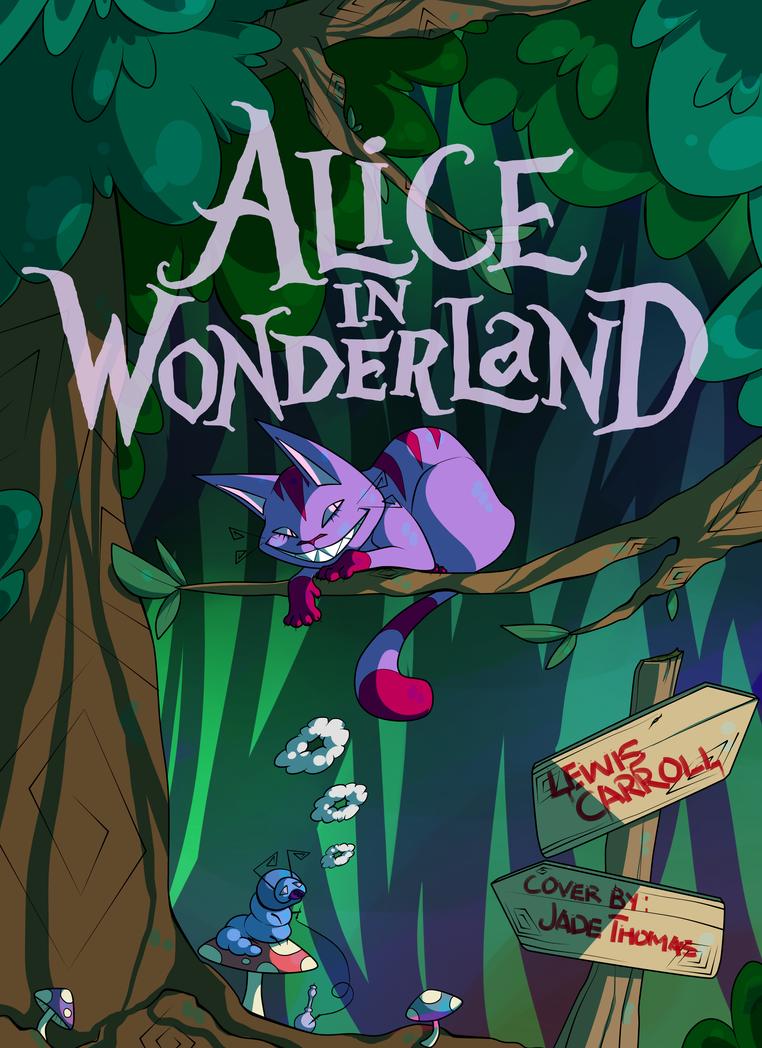 Alice In Wonderland Book Cover Designs : Alice in wonderland book cover by jadeeniebeanies on