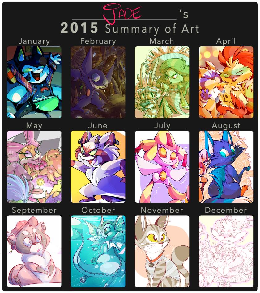 Art Summary 2015 by JadeenieBeanies