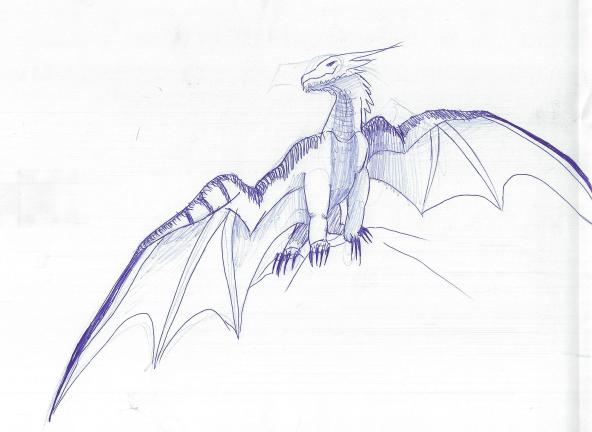 Happy Sitting Dragon by Annatiger1234