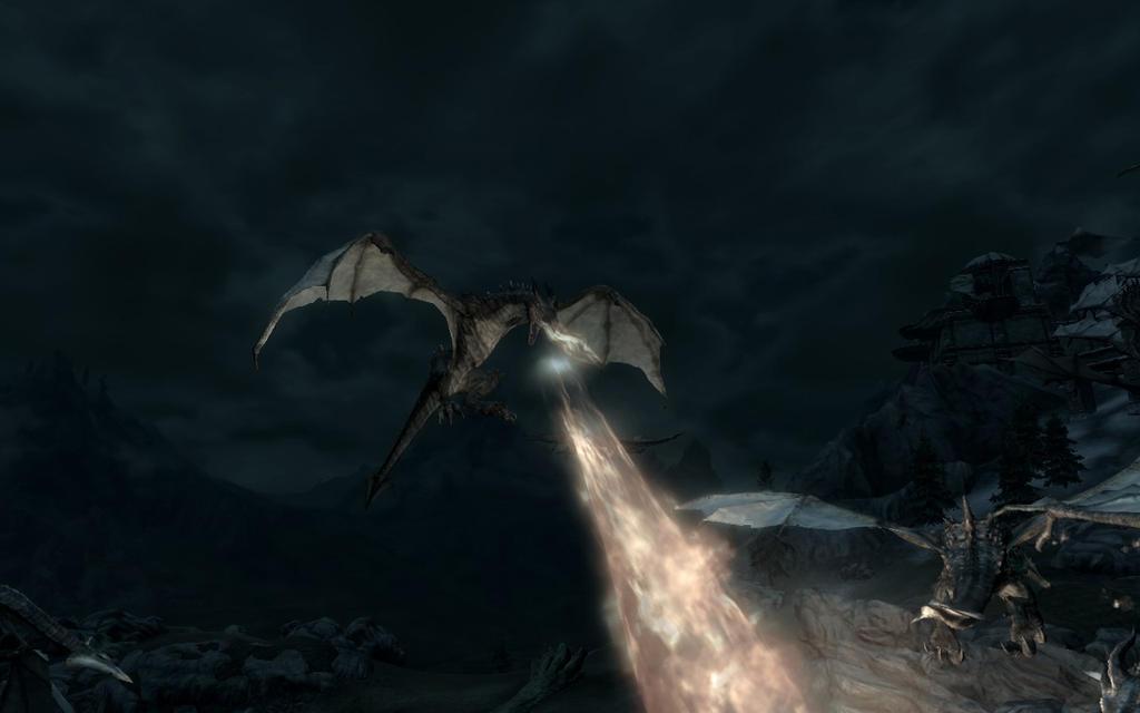 Dragon's Hover fire Skyrim by Annatiger1234 on deviantART